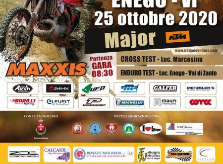 25 ottobre 2020, ENEGO (VI)  2° Prova Campionato Italiano Major e Regionale Enduro